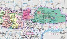 印度锡金邦地图
